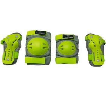Набор защиты Tech Team Safety line 500, цвет зеленый (размеры S, M)